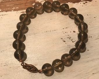 Smoky Quartz & Copper Bracelet
