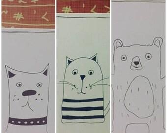 Set of three handmade cards
