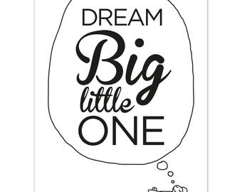 Dream Big Nursery Print - New Baby Print - Baby Shower Gift - Christening Gift - Kids Room Print - New Baby Gift