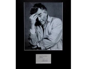 PETER FALK AUTOGRAPH photo display Columbo