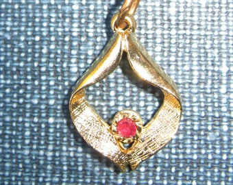 necklace with small ruby