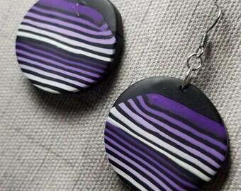 Purple Stripe Earrings #PL3612