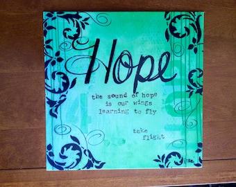 Metal Home Decor Sign | Hope
