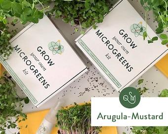 Grow Your Own Microgreens Kit- Arugula & Mustard