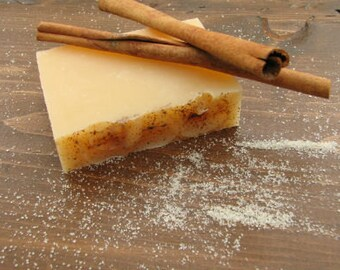 Cinnamon Sugar Soap - Handmade Soap - Citrus Soap - All Natural Soap - Essential Oil Soap - Homemade Soap-  4.5 oz Bar Soap