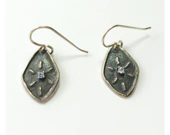 Blue topaz sunburst  earrings