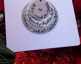 Grandmother Hand Stamped Necklace