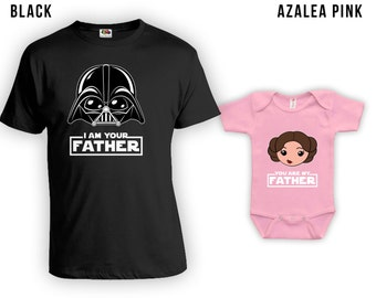 I Am Your Father Caucasian Cartoon, Matching Father Son Shirts,Christmas Gifts, Fathers Day Gift, Matching Family Shirts,Bodysuit CT-838-841