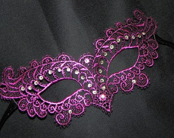 Pink Soft Lace Masquerade Mask - Available in Many Colors