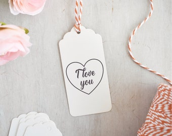 I Love You Stamp | Love Heart Stamp - Valentines Stamp - Wedding Stamp - Romantic Sentiment