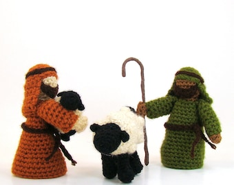 Shepherd and Sheep Crochet Pattern Christmas Toy Nativity PDF INSTANT DOWNLOAD