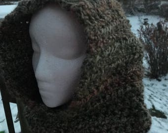 Cowl, Hooded cowl, crochet hat, winter hat, crochet hooded cowl, warm hood, crochet hooded cowl, crochet cowl, crochet snood, gifts for her