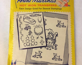 Vintage Aunt Martha's New Baby Designs Hot Iron Transfers