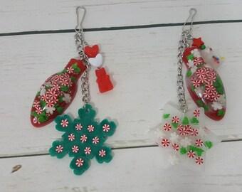 Christmas Keychain-Purse/Backpack Charm-Zipper Pull