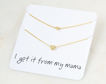 Mother Daughter Necklace | Mother Daughter | Mommy and Me | Gift For Mom | Mother Daughter Gift | Heart Necklace | Mother Of The Bride Gift