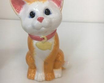 Ceramic cat bank