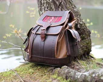 Leather Backpack, Handmade Backpack, Brown Backpack, Mens Backpack, Women Backpack, Laptop Backpack, Large Backpack, Vintage Backpack