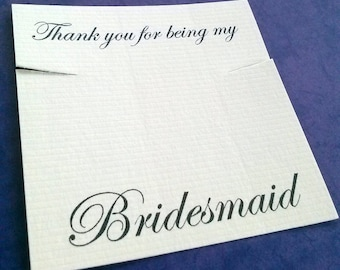 Bridesmaid necklace cards, set of 30, earring cards, wedding favor