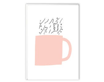 Greeting Card - Today Will Be Great Coffee