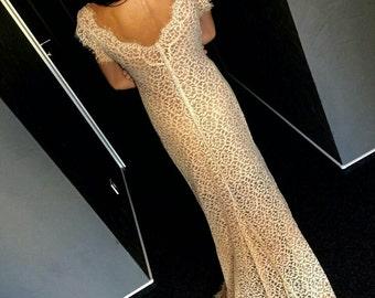 Beautiful lace wedding dress. Lace dress.