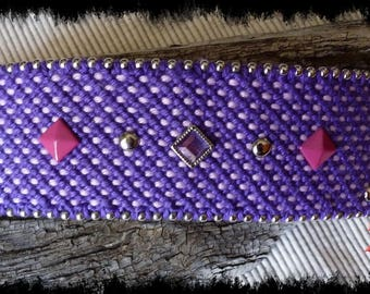 Pink and purple cuff Friendship Bracelet