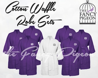 PLUM COTTON ROBES - Personalized Robe - Bridal Party Robes - Bridesmaids Robes - Maid of Honor Robe - Bridesmaid Robe Set - Dressing Gowns