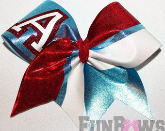 AWESOME School Recreational Custom Logo Cheer Bow by Funbows - WOW