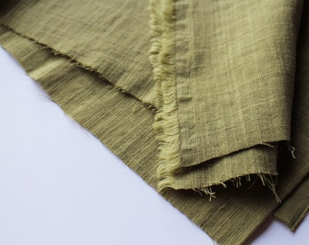 cotton double gauze fabric. soft japanese pure cotton fabric. 102cm (40in) wide. sold by 50cm (19in) long / half yard. olive green