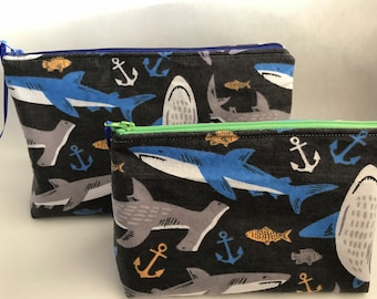 Shark Zipper Pouch