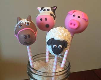 Farm Animals Cake Pops Regular Or Gluten Free