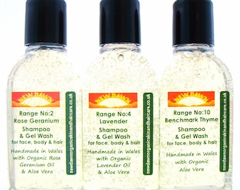 Psoriasis & Itchy Scalp Shampoo Sample Pack ~ Organic Shampoo for Scalp Psoriasis / Eczema ~ Natural Remedy (SH25/2/4/10)
