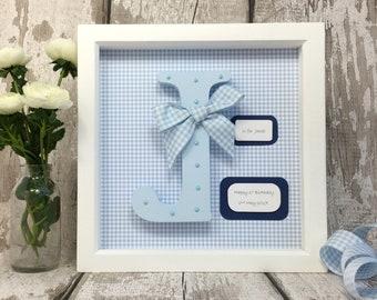 Wooden Letter - Letter Frame - Nursery Wall Art - Christening Gift - Baby Shower Gift -Personalised Gift - First Birthday Gift