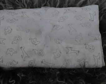 Safari, Elephant Giraffe and Lion Muslin Swaddle Blanket,  Gender Neutral Blanket, Receiving Blanket, Baby Gift