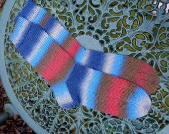 Colorful socks, handknitted wool socks, men's socks, women's socks,rainbow socks, knitted socks, wool socks knit.