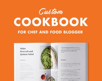 Custom Cookbook Template for Chef and Food Blogger