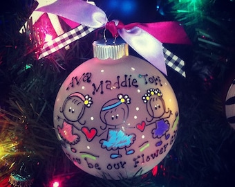 Friends, Sisters PERSONALIZED Christmas Ornament Dancer, Flower Girl