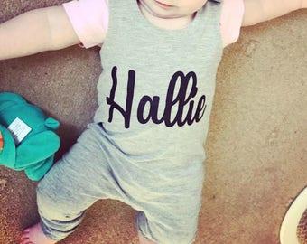 Baby romper, toddler romper, Baby girl romper, Girls romper, Girls dungarees, Baby girls dungarees, baby girls clothes, Personalised romper