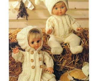 boy girl doll clothes outfits dk knitting pattern 99p pdf
