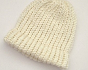 Gift for baby, knitted baby beanie hat, knit baby boy girl hat, baby beanie, infant winter beanie hat, baby boy gift, ready to ship,