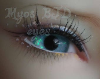 16mm light green full round acrylic eyes