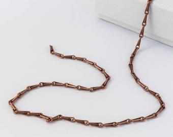 Antique Copper 6mm Bar Chain #CC104