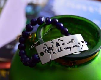 Navy Blue Beaded Bracelet