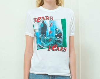 vintage tears for fears t shirt | tears for fears band tee | 80s tears for fears shirt | tears for fears concert tee | band shirt | 1980s
