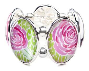 Mia Pink Five-Cameo Bracelet