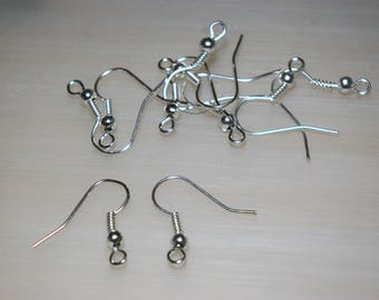 set of 10 silver plated ear wires