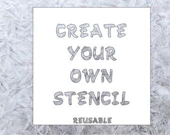 Create Your Own  Stencil - Custom Stencil - Reusable Stencil - DIY Stencil - Walls - Quilting - Furniture Stencil - Personalized Stencil