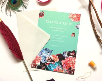 Wedding Invitations in Spring Orient