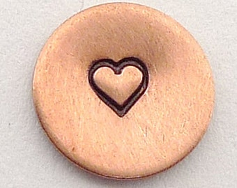 Metal Steel Stamps HEART 3mm Design Stamp Jewelry Stamping - The Urban Beader