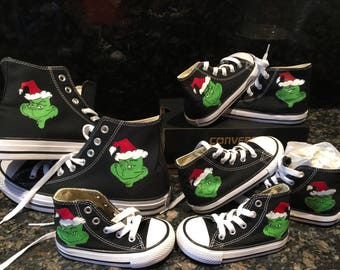 Grinch Hand-painted Converse