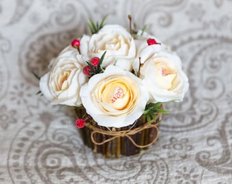 Paper flower bouquet with candies inside, wedding bouquet, paper flower bouquet, candy bouquet, candy flowers, paper roses, edible bouquet